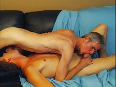 Older man and young guy sucking and eating ass