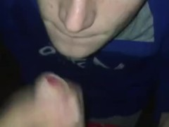 Matt sucks chav cock outside