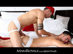 ManRoyale - lubricant massage & screw makes hairy youngster cum