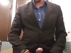 Boner piss in a suit