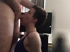 Sissy slut gets facial