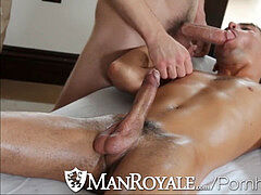 Manroyale Hairy masseur bj's and smashes lad