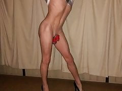Sissy faggot loves chastity and posing. SLIDESHOW PMV